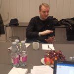 Interview with Mark Ørsten from Roskilde University. Photo: Renata Rat/ECPMF