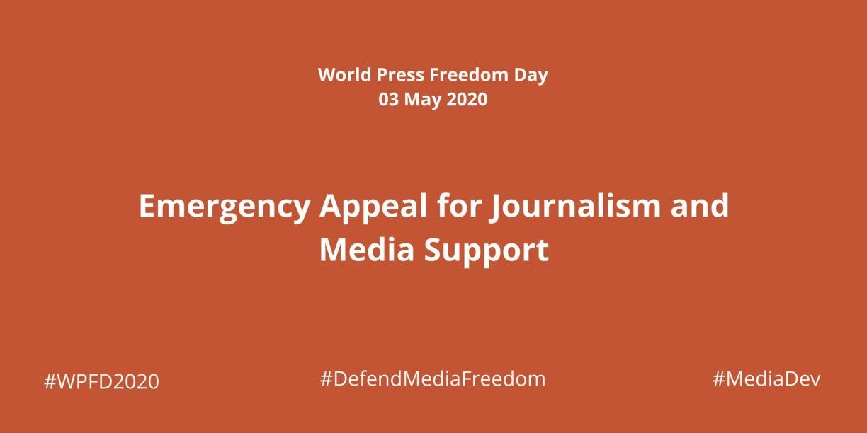 Joint emergency appeal for support to journalism and media