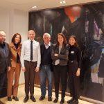 The delegation with Stig Kirk Orskov, CEO of JP Politikens Hus in Copenhagen. Photo: Renata Rat/ECPMF