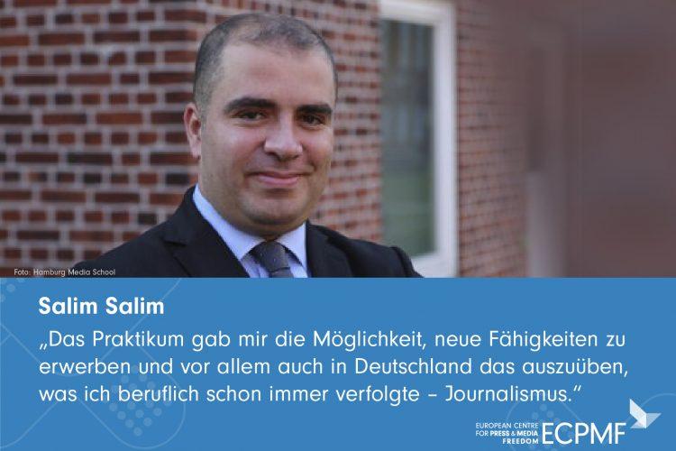 Salim Salim; Helpdesk; Medienschaffende in Deutschland; Exil