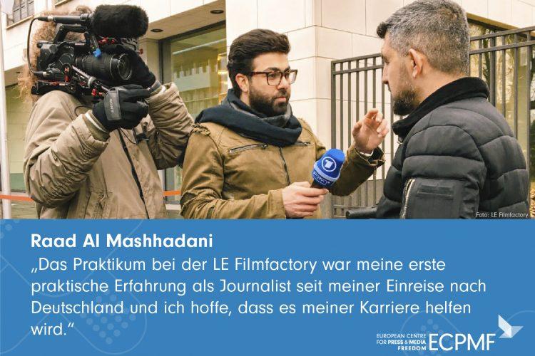 Raad Al Mashhadani; Helpdesk; Exilerte Medienschaffende in Deutschland