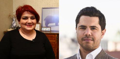 Azerbaijani investigative journalist, Khadija Ismayilova & German journalist / filmmaker Benjamin Best