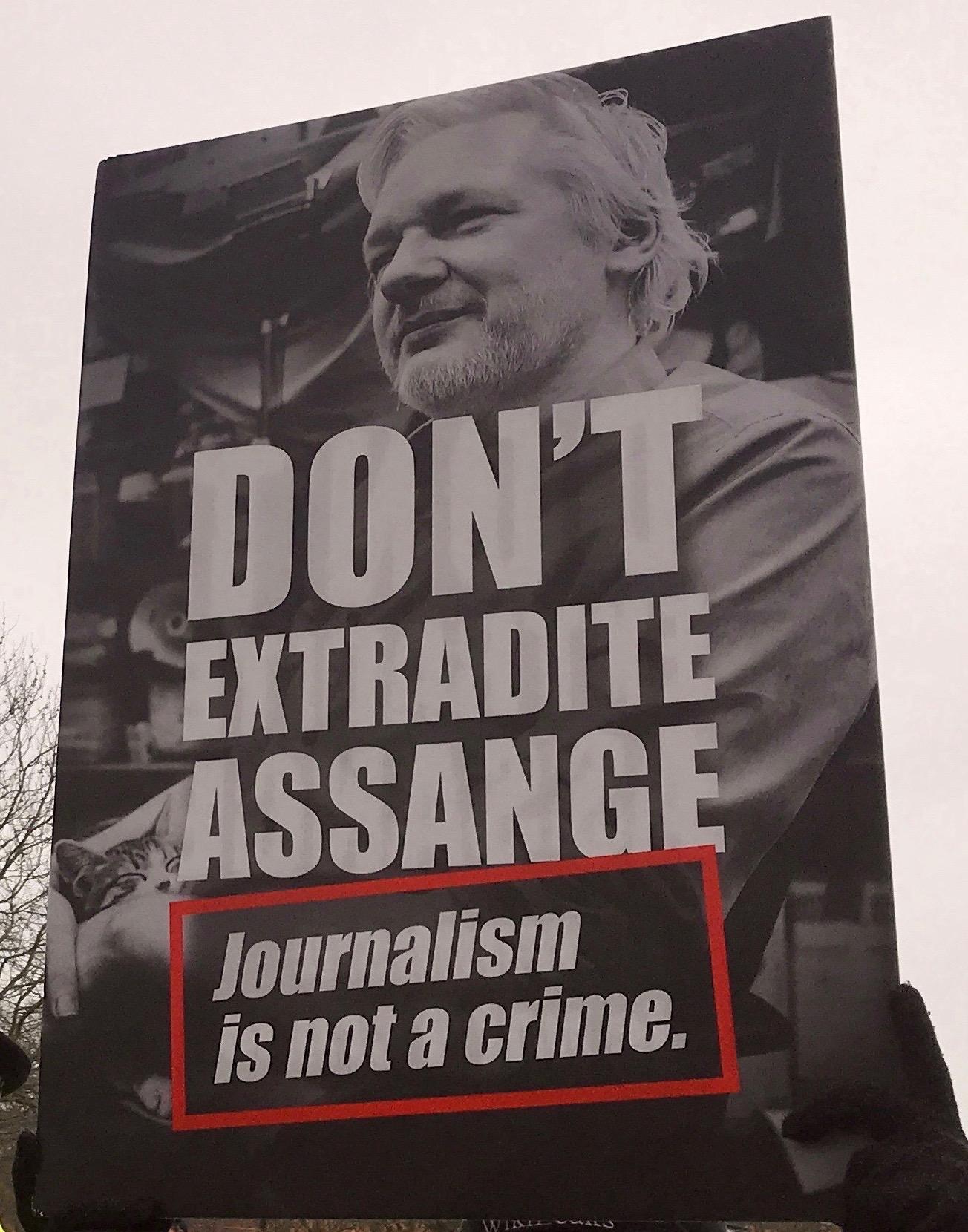 Demonstration against Julian Assange Extradition