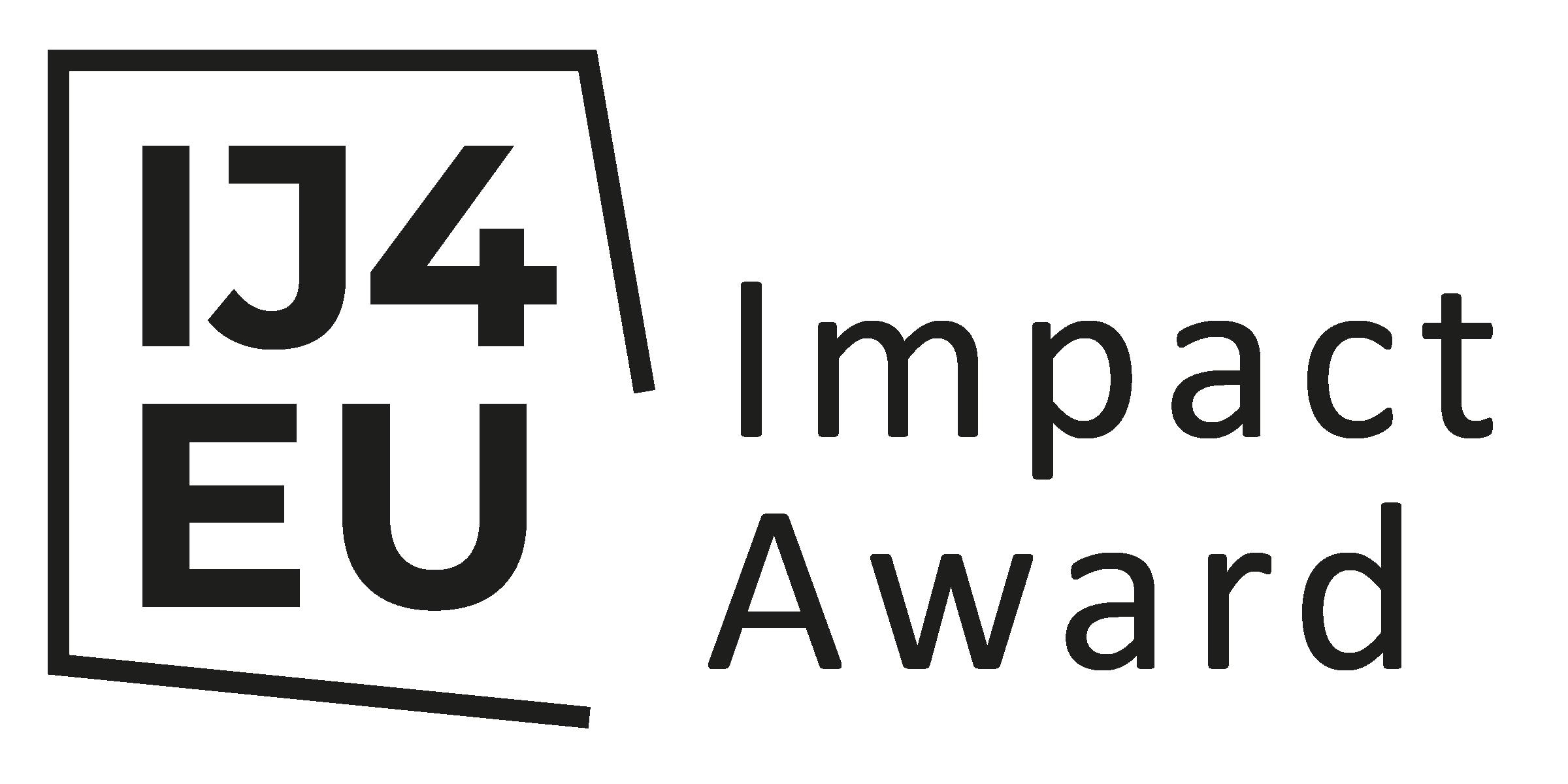 IJ4EU Impact Award logo