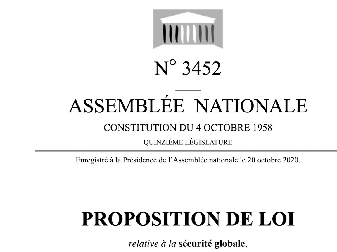 French draft law on journalists and police