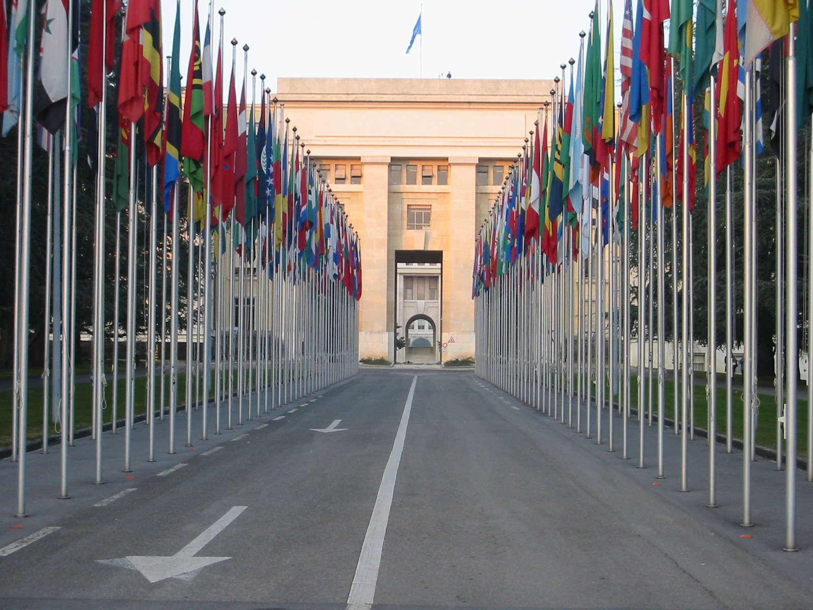 View of the United Nations Palais des Nations in Geneva, Switzerland